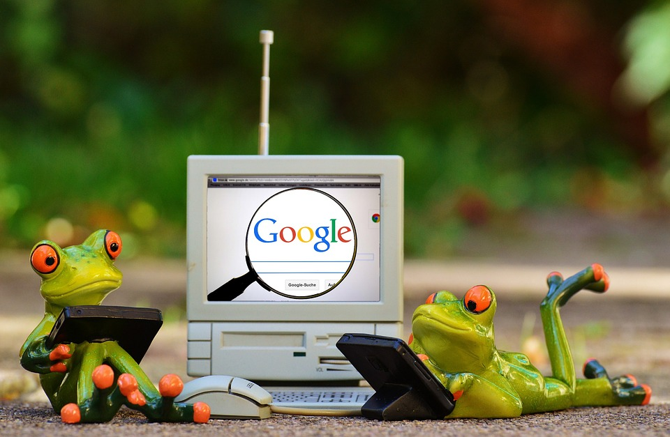 Frogs making a common local SEO mistake on Google
