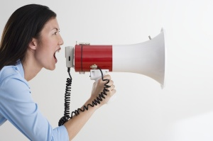 SEO benefits explained with a megaphone