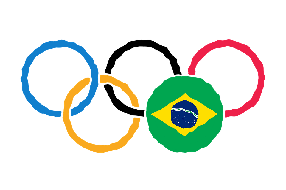 Circles representing the 2016 Summer Olympic Games in Rio de Janeiro