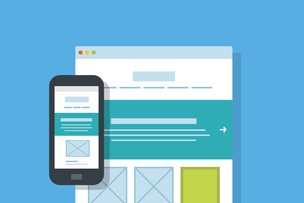 Responsive template used for email marketing